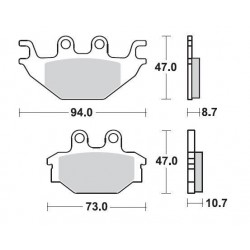 SBS 810SQ Rear Ceramic Brake Pad for Yamaha YZFR125 08-