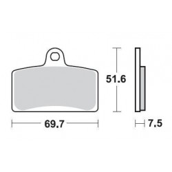 SBS 821HS Front Sinter Brake Pad for Aprilia RS4 125 11-