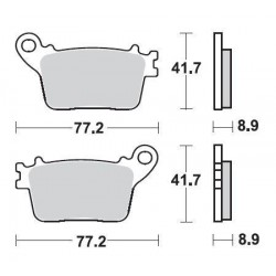 SBS 834LS Rear Sinter Brake Pad for Honda CBR1000RR 06