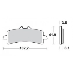 SBS 841DC Front Dual Carbon Brake Pad for Ducati 1098