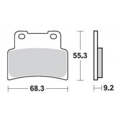 SBS 844HS Front Sinter Brake Pad for Aprilia SMV750 Dorsoduro 09