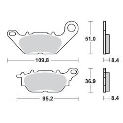 SBS 858HF Front Ceramic Brake Pad for Yamaha YBR125 08