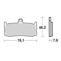 SBS 864HS Front Sinter Brake Pad for Triumph Daytona 675 09-