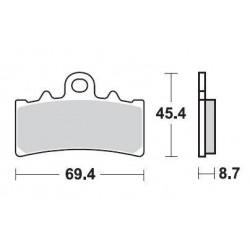 SBS 877HF Front Ceramic Brake Pad for KTM 125/200/390 Duke 11-