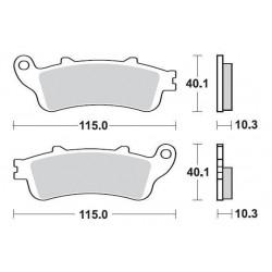 SBS 880LS Rear Sinter Brake Pad for Honda GL1800 Gold Wing 01
