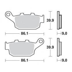 SBS 881LS Rear Sinter Brake Pad for Honda CB500X/F 13