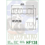 Hiflo Oil Filter HF 138 for Suzuki Bikes